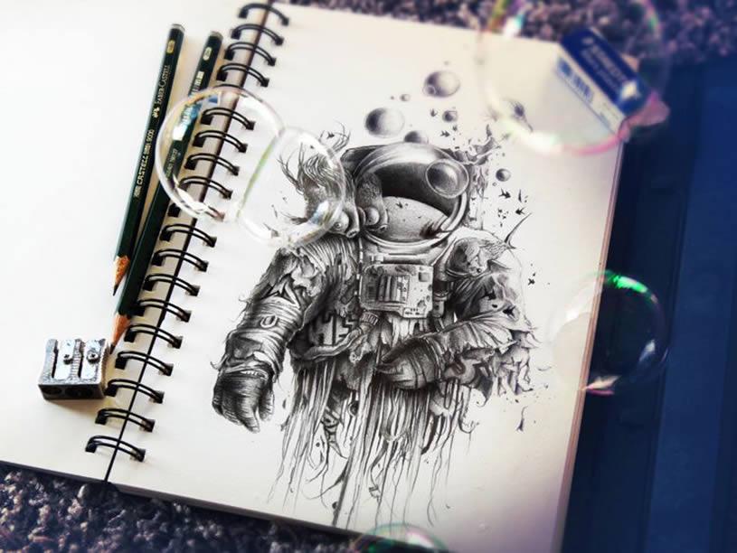 French Sketchbook Drawings
