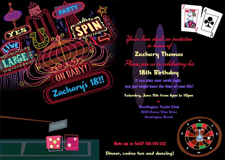 Gwynn Wasson Designs New In The Shop Casino Party Invitation