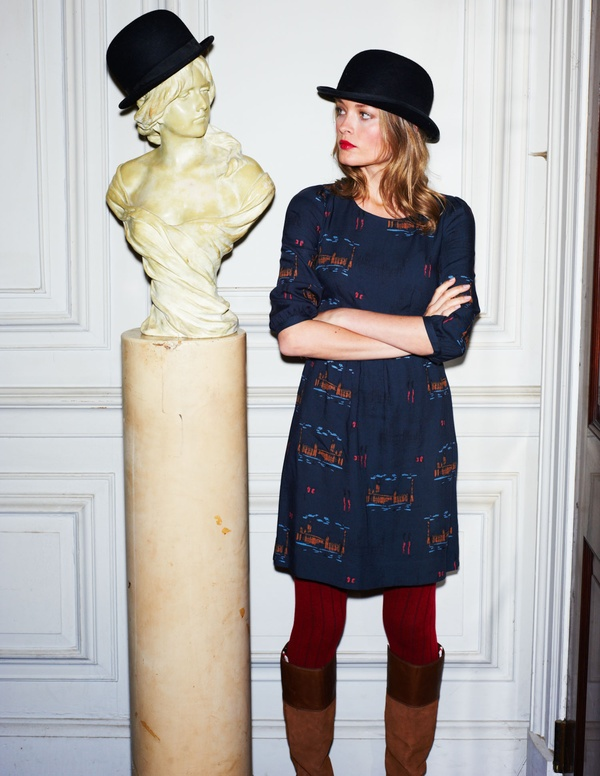 Asos christmas jumper dress in black - Fashion For Linda Boden 2012 Preview