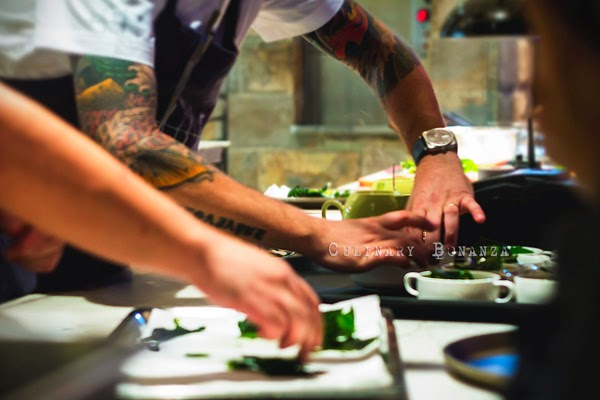 Chef Ryan Clift preparing every single plates served (Culinary Bonanza)