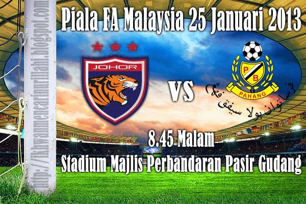 Keputusan Johor United vs Pahang 25 Januari 2013 - Piala FA 2013