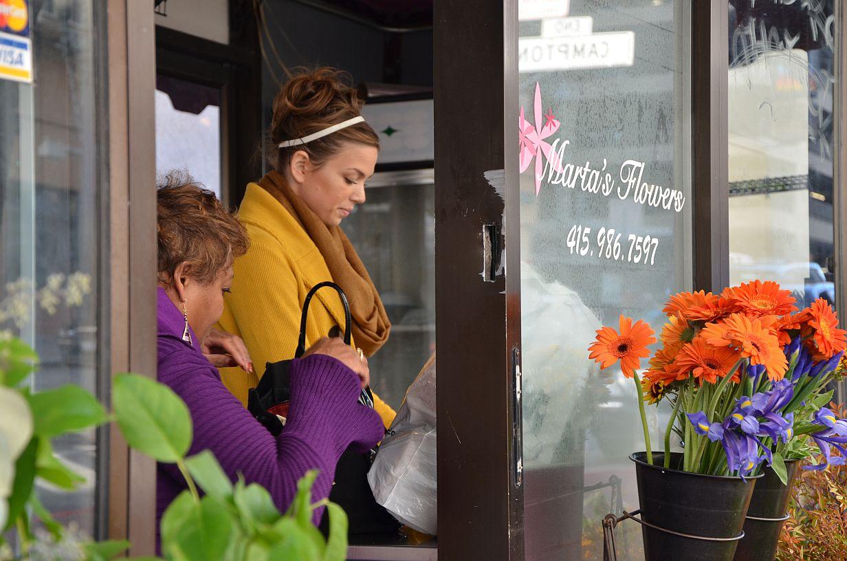 In the Flower Shop Stockton Street San Francisco