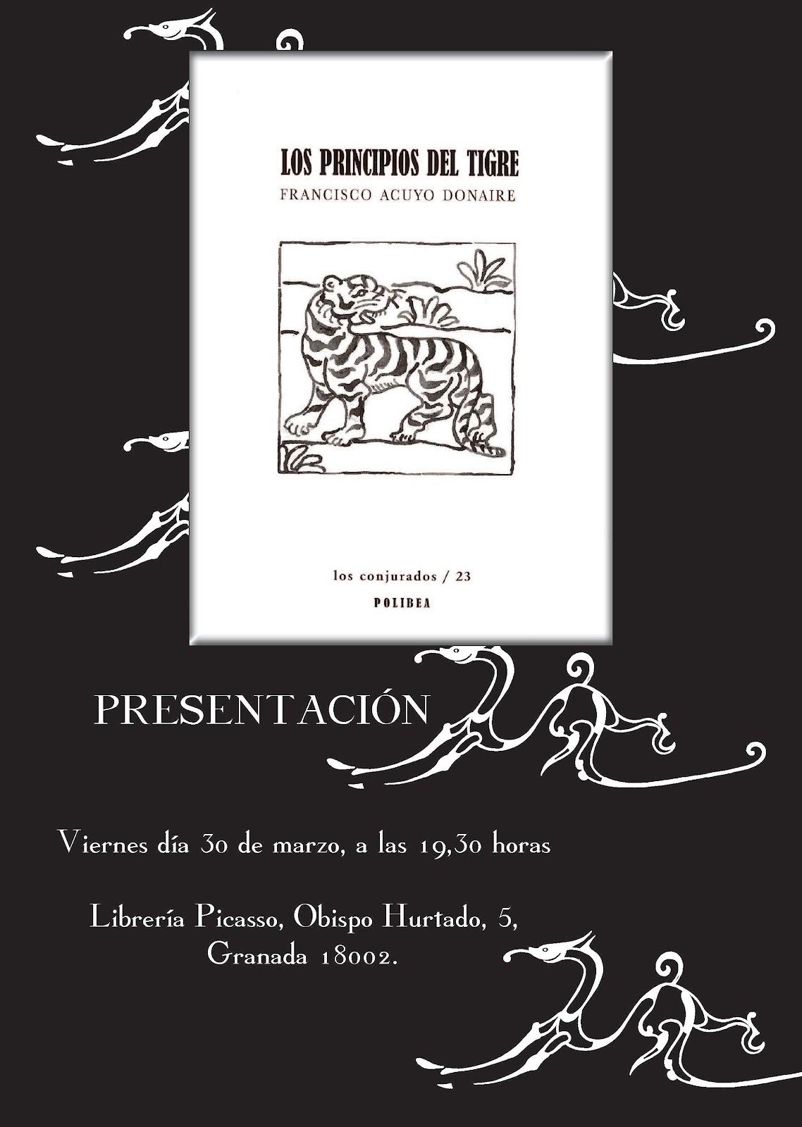 Ancile presentaci n de la segunda edici n de los principios del tigre - Libreria picaso granada ...