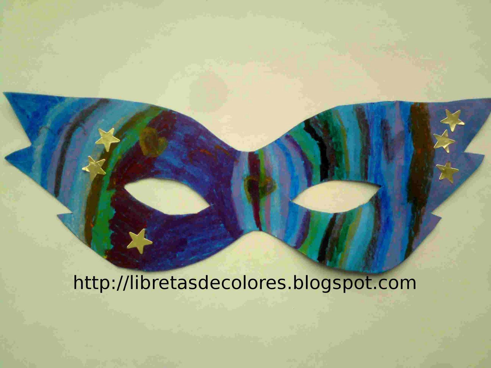Libretas de colores UN ANTIFAZ PARA CARNAVAL