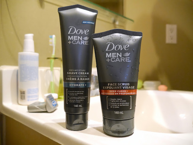 dove men's care review Pro-moisture shave cream and deep clean face scrub