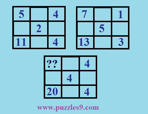 puzzles9 - puzzle 43 - find missing number in math puzzle.