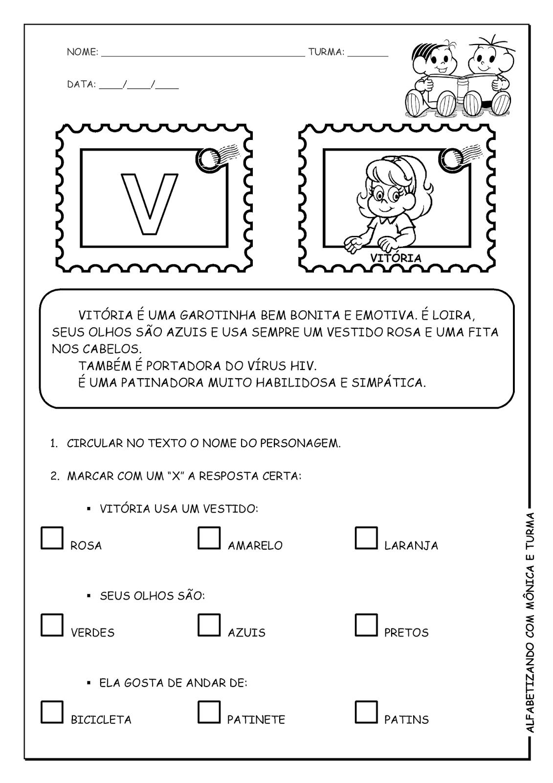 Alfabetizando com Mônica e Turma: Março 2014