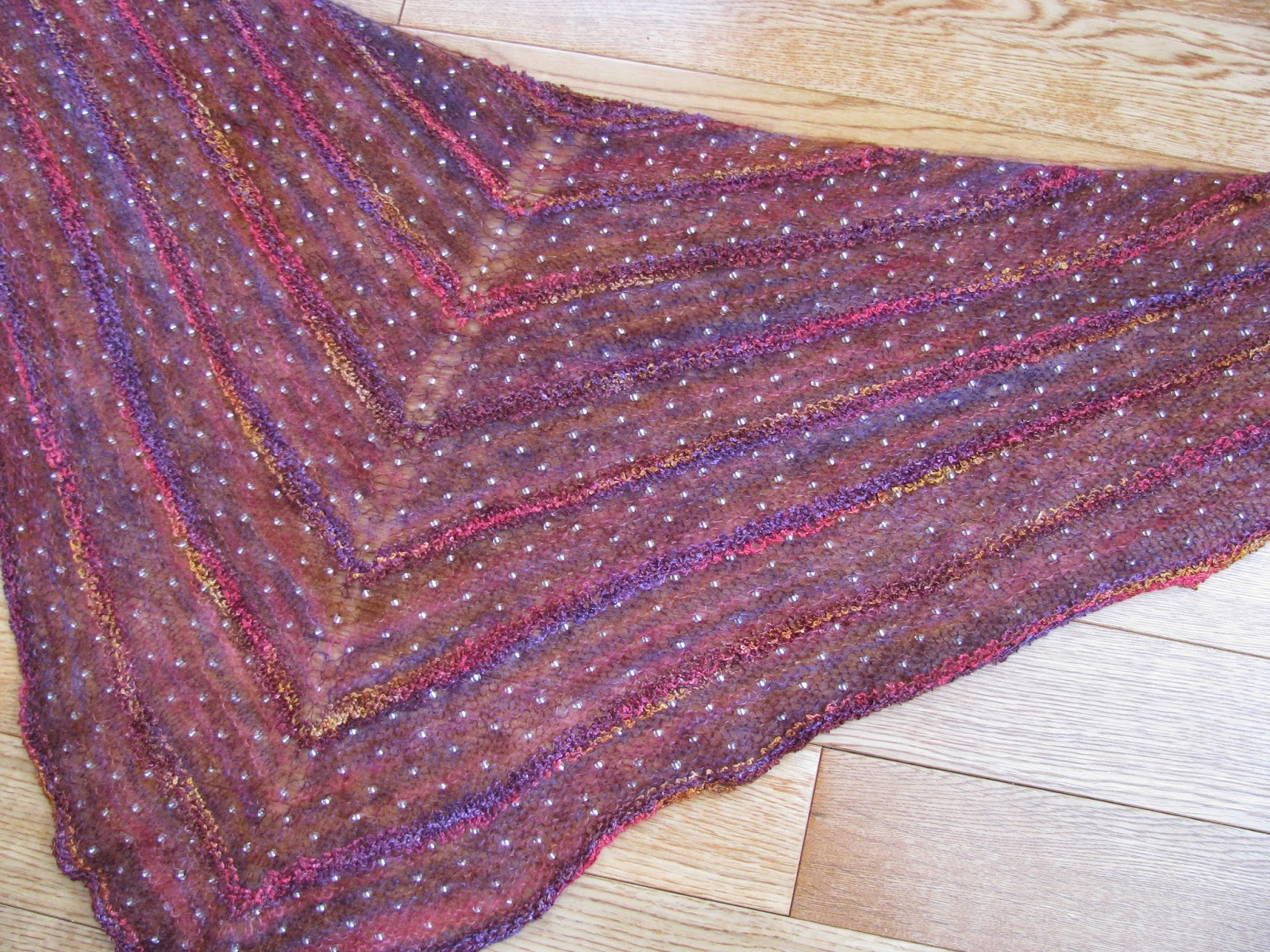 Knitting Patterns For Mohair Scarves : Chris Knits in Niagara: Beaded Mohair Shawl