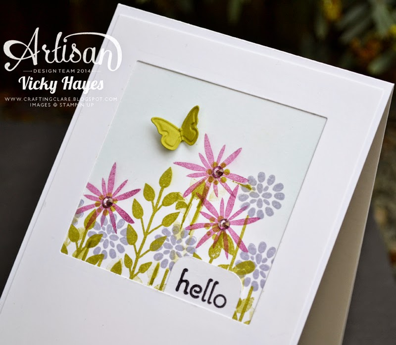 Aperture card with tab demonstrated by Victoria Hayes, UK Stampin' Up demonstrator and Artisan Design Team member