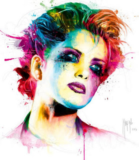 Pintura Moderna de Cara de Mujer