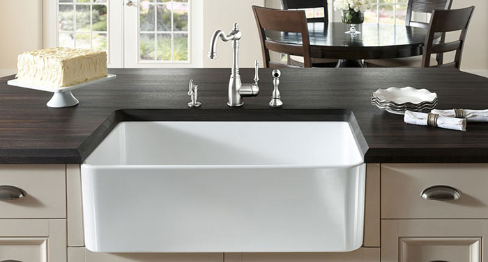 Porcelain Sinks Are A Ceramic Material, Again Heated To High Temperatures,  Although Not Quite As High As Fireclay. They Look Similar To Fireclay Sinks  But ...