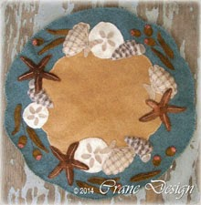 "Ocean Breeze Wool Applique 15"" by 15"""