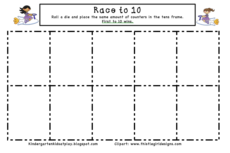 ... Kids At Play: Race to 10 & Race to 20 Tens Frame Dice Games