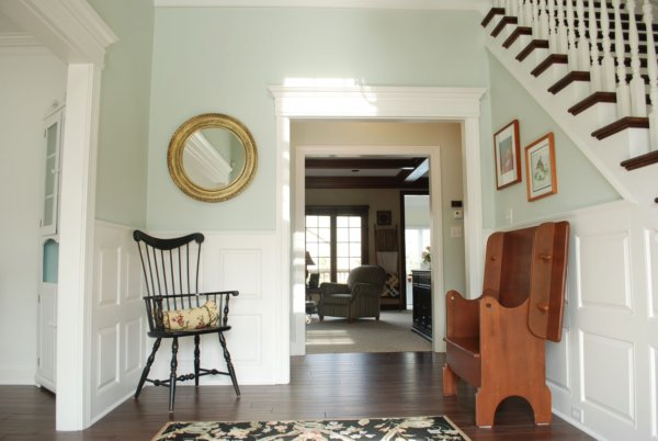 Colonial foyer entryway and hallways on pinterest for Mckie wing roth home designs