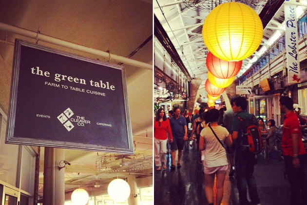 green table at chelsea market