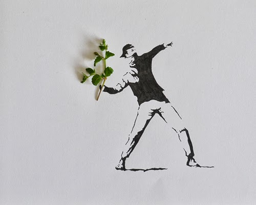 05-One-of-the-Tangs-Favourite-Artists-Banksy-Freelance-Illustrator-Tang-Chiew-Ling-Art-with-Leaves-www-designstack-co