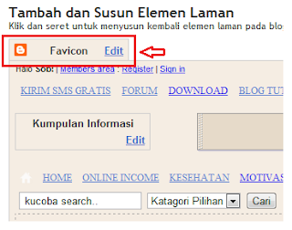 New Features Add Favicon at Blogger Design