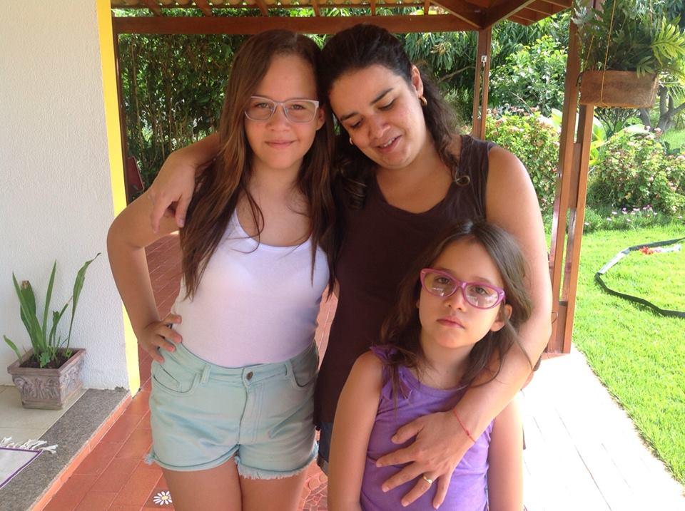 Minha filha e duas netas....
