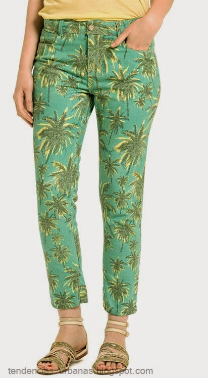 pantalon estampado tropical Markova verano 2015