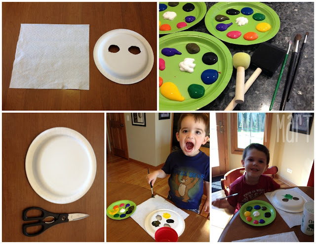 Making Paper Plate Pet Masks