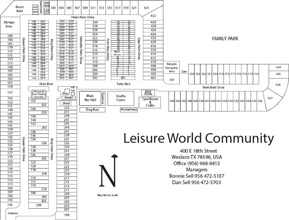 Leisure World Map