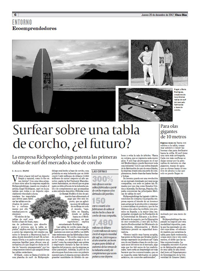 Es el corcho una alternativa al foam surf 30 - Tabla de corcho ...