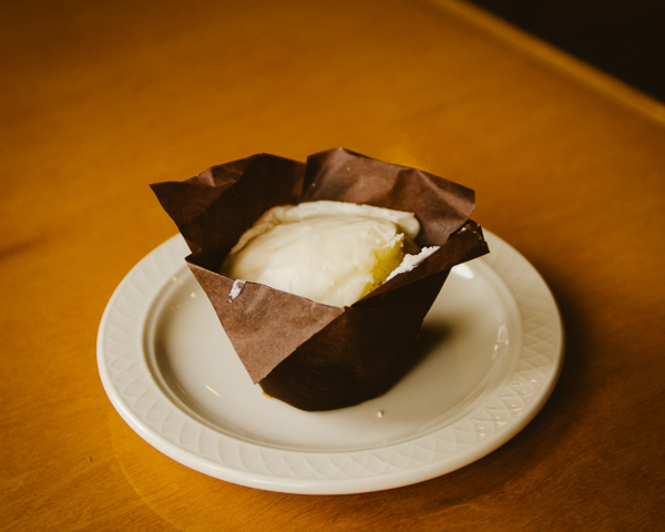 lemon ricotta muffin at The Post East in Nashville, Tennessee