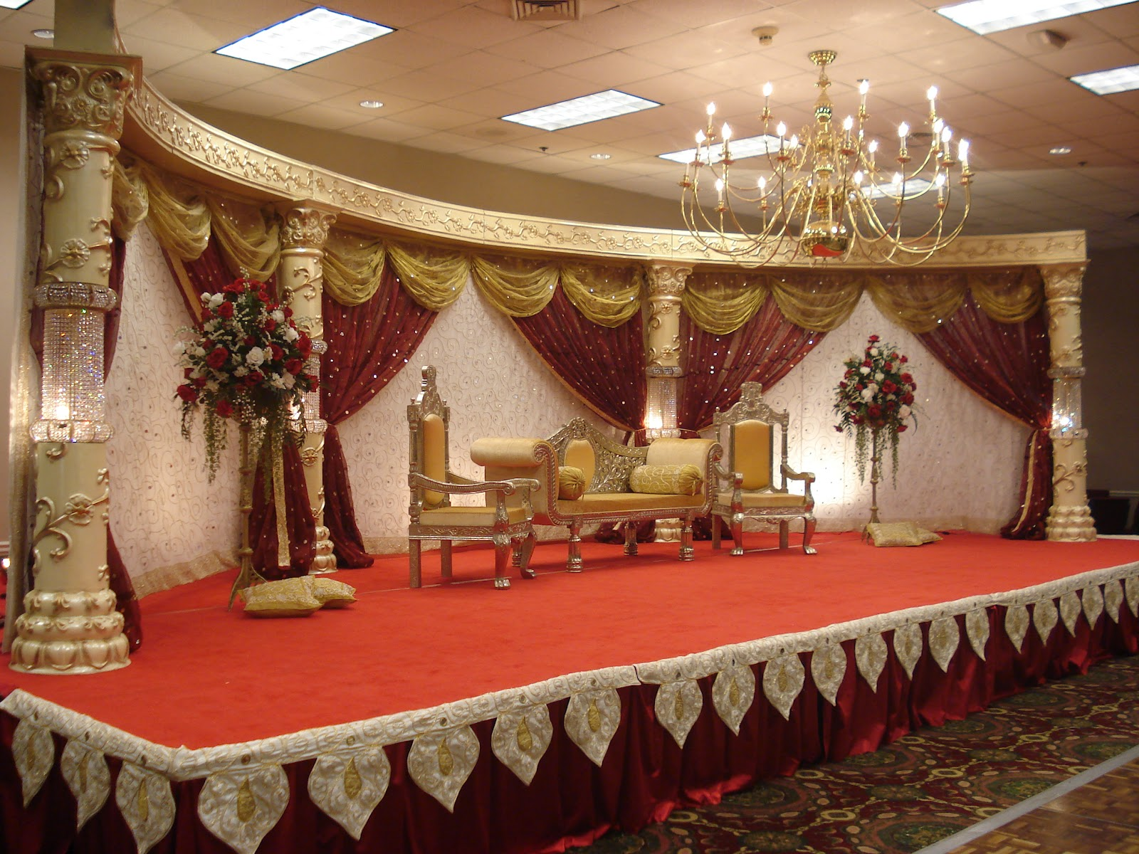 Style events news asian wedding stage for Asian wedding stage decoration london