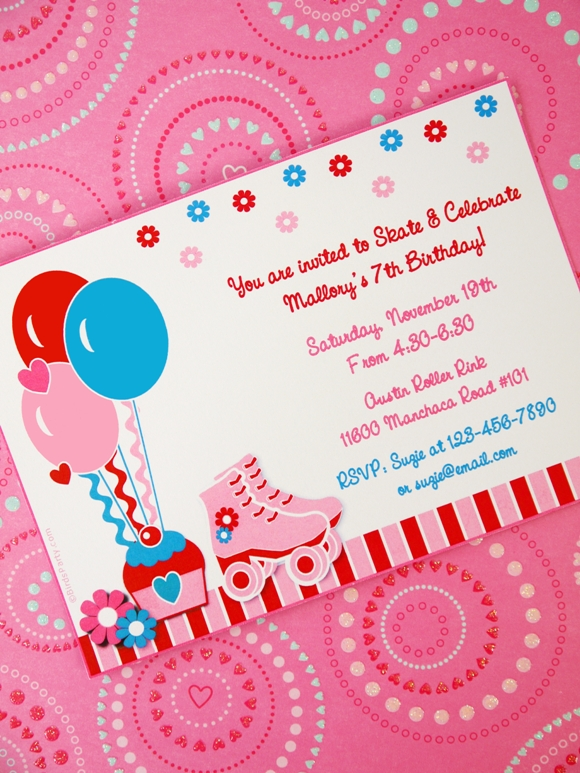 Free Printable Roller Skating Birthday Party Invitations was amazing invitation example