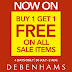 30 July - 2 Aug 2015 Debenhams Buy 1 Free 1