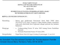 Berkas Sekolah Excel-Download Contoh SK Pembentukan Panitia Penerimaan Siswa Baru Terbaru Tahun 2015 2016