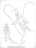 Barbie Fairytopia Girls Coloring Sheet Printable
