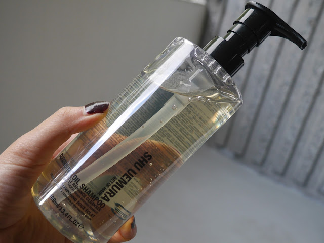 Shu uemura cleansing oil shampoo gentle radiance cleanser review