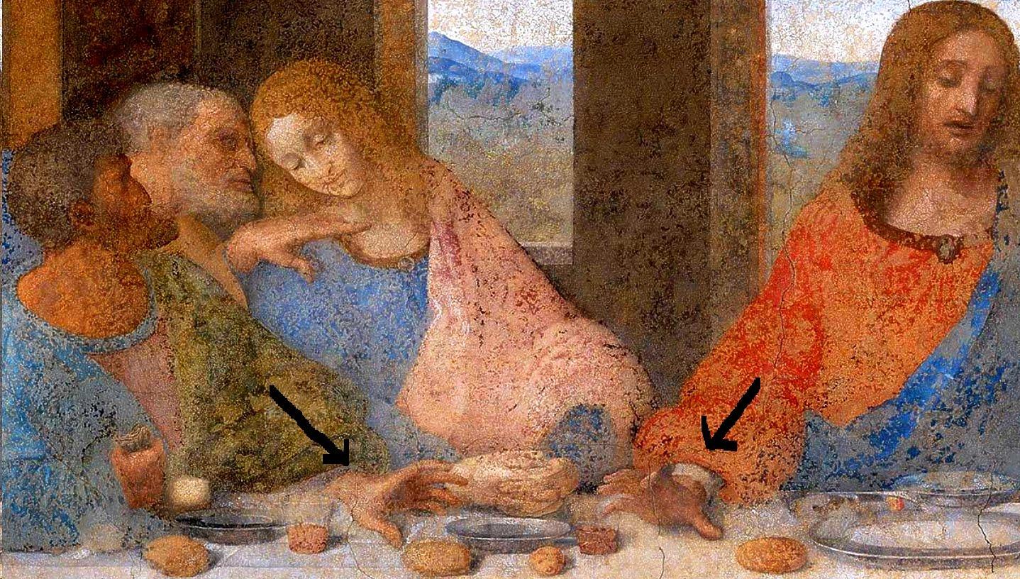 Biblische Ausbildung: Jesus and Judas at the Last Supper Da Vinci Last Supper Restored