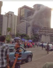 #JustIn...CBN Office In Lagos On Fire!