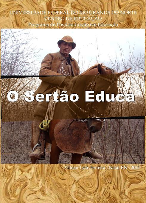 CAPA DA TESE DE DOUTORADO O SERTÃO EDUCA