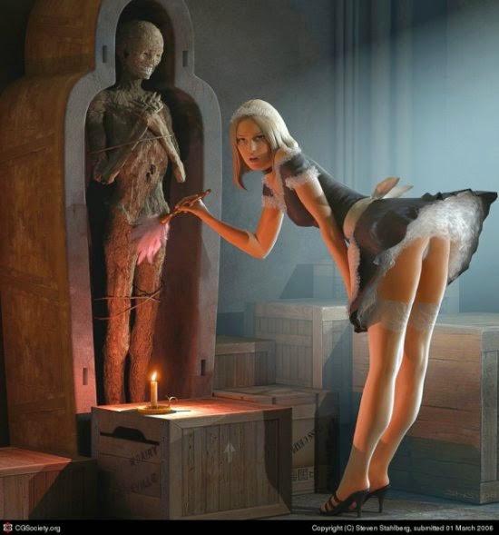 Steven Stahlberg ilustrações digitais fantasia sensuais