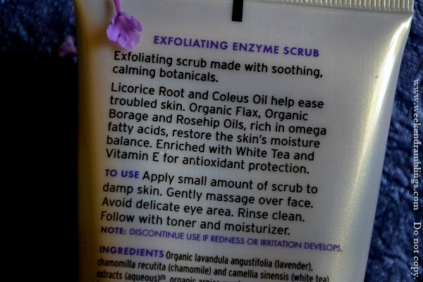avalon organics exfoliating enzyme scrub lavender drugstore skincare natural reviews ingredients face