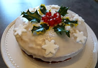 christmas cherry bakewell cake