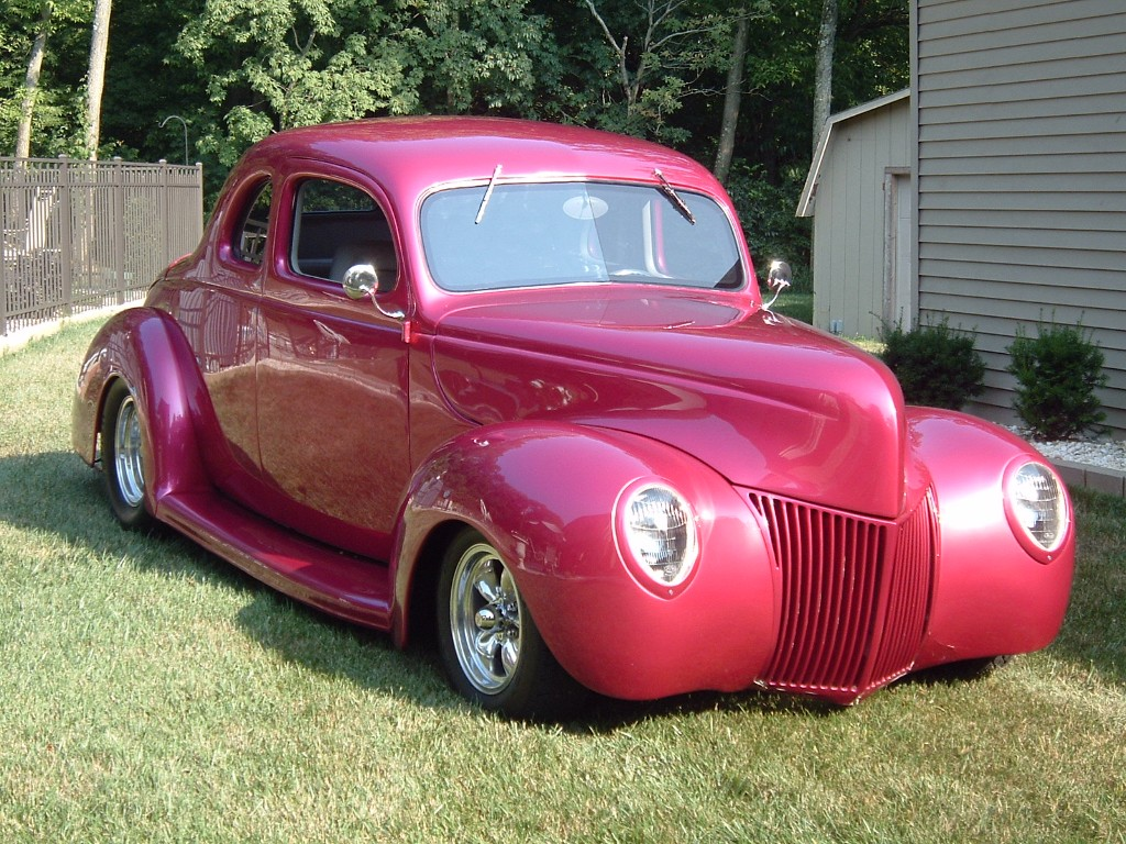 1939 Ford Deluxe Coupe Hot Rod Pictures Autogado 1941 Red Picture 3
