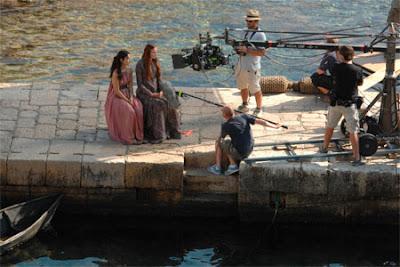 Shae y Sansa rodaje tercera temporada Juego de Tronos - Juego de Tronos en los siete reinos