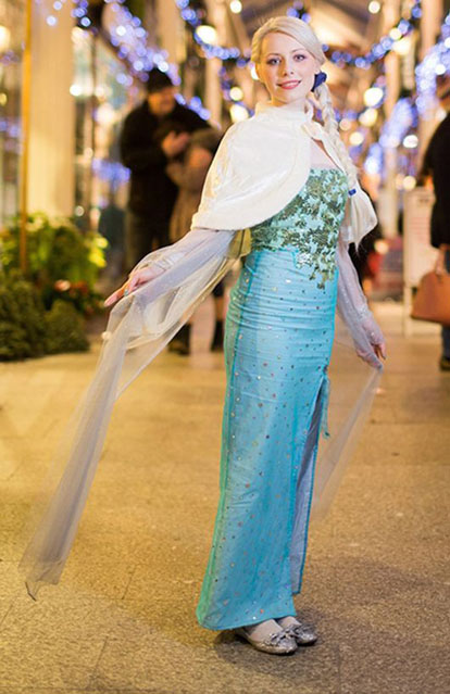 Alexandra Jenkins Lokalike Elsa Frozen