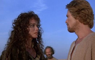 Barbara Hershey and William Defoe in The Last Temptation of Christ 1988