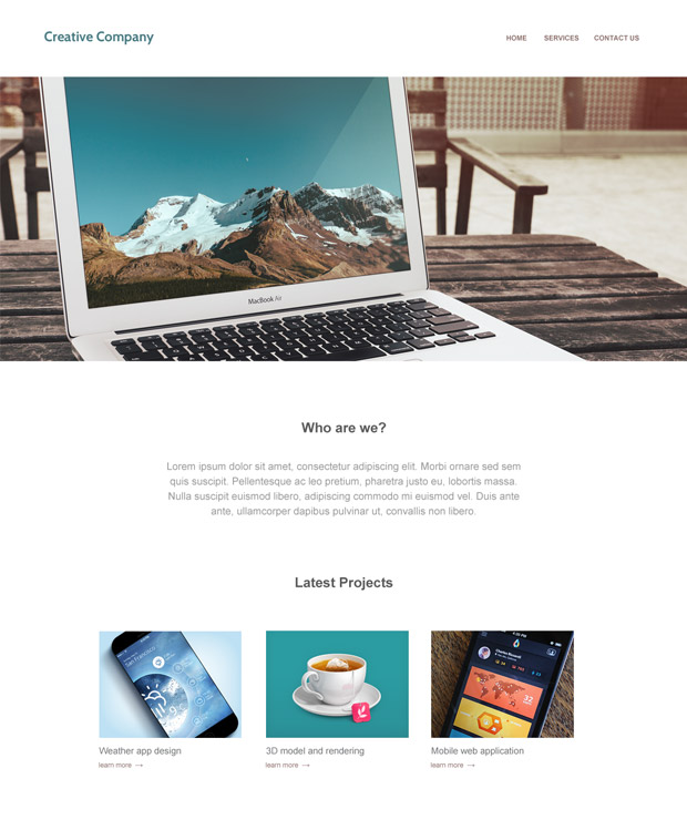 Free Template: Creative Company Layout