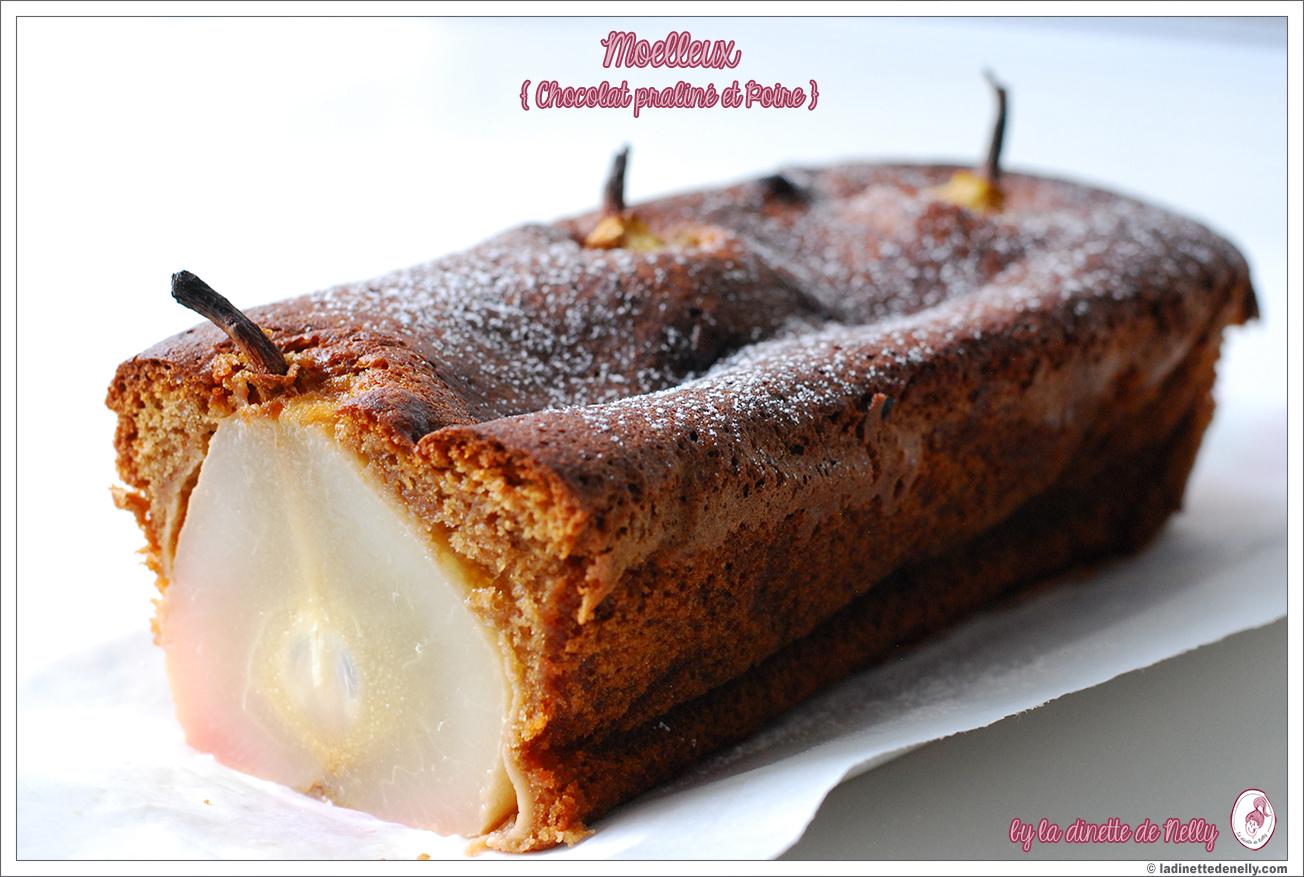 Recette gateau chocolat praline poire