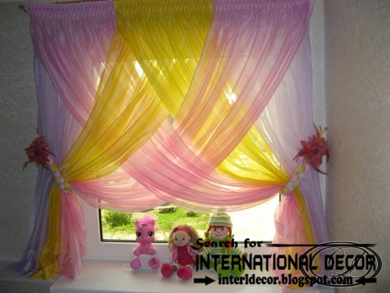 stylish modern curtain designs 2016 curtain ideas colors, colorful kids curtains