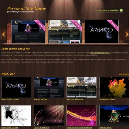 personal portfolio blogger template 2014,free portfolio template,free download,orange template,brown template