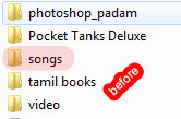 hidden folder before