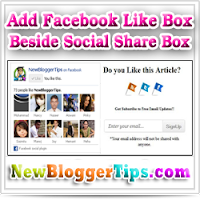 Facebook LikeBox Beside Social Sharing Box Widget Generator