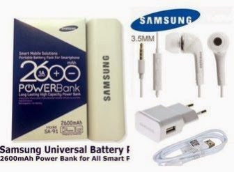 Buy Samsung Power Bank & Samsung Ear Phone & Samsung Charger Combo of 3 At Rs.302 only